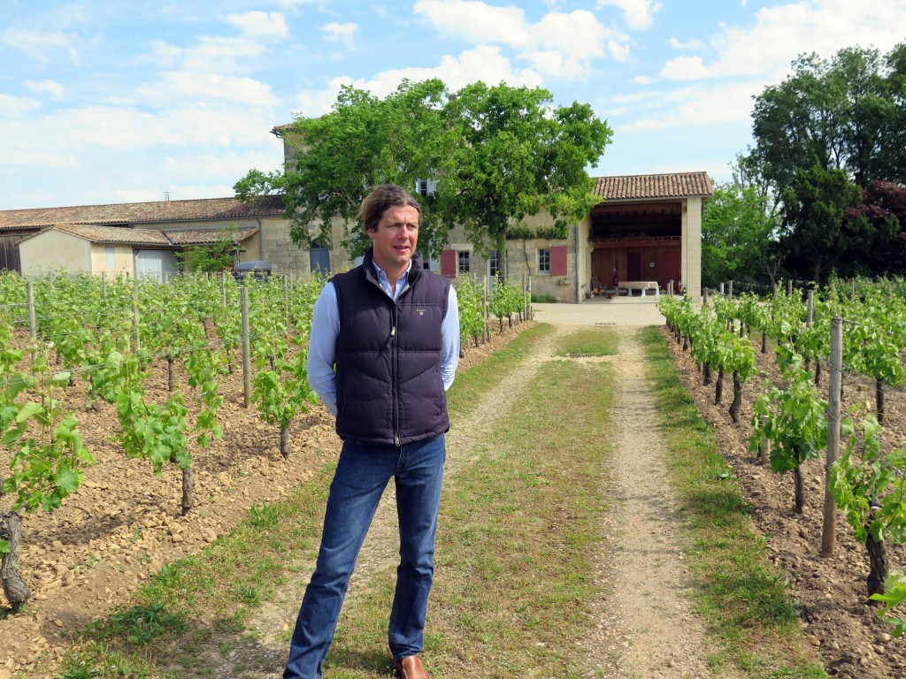 Jacques Guinaudau, youthful proprietor of Château Lafleur, surveys his precious acreage of vineyard, one of Pomerol's most illustrious wine estates. The modest château can be glimpsed in the background.
