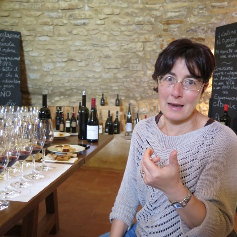 Signora Orsi, oenologist at the Tasca d'Almerita estate, speaks eloquently about her wines, which she has been fashioning there since 2004.